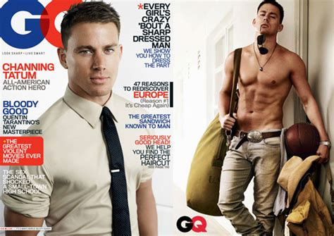 channing tatum insists he never photos and quotes of shirtless channing tatum in gq