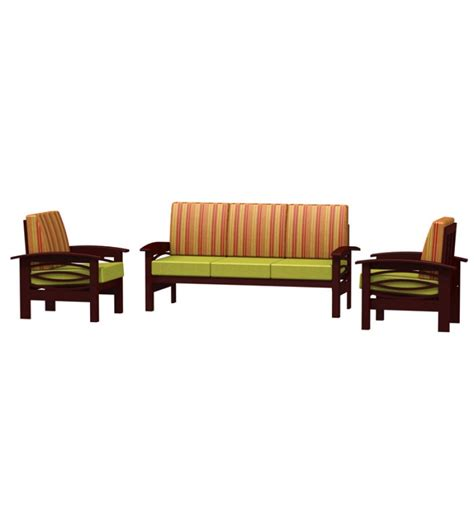sofa set designs wooden frame fk rubber wood frame sofa set by furniturekraft