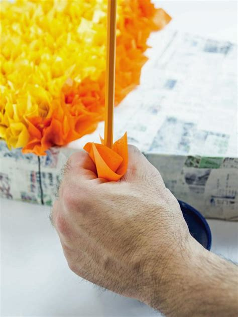 How To Make A Pinata With Tissue Paper - how to make a corn pinata for hgtv