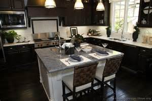Espresso Kitchen Island Traditional Dark Wood Black Espresso Kitchen Cabinets