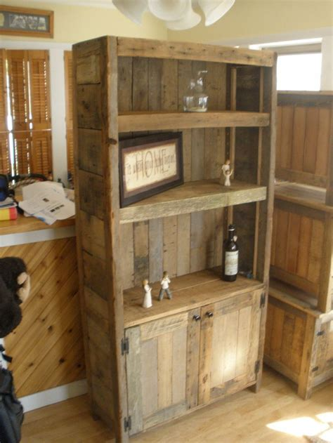 barnwood bookcase for the home