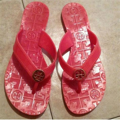 Jelly Shoes Mta 003 01 burch burch thora pink jelly flip flops sz 6 5