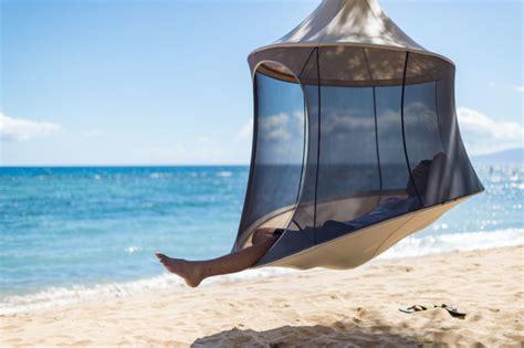 treepod a portable hanging hammock like cabana design