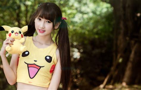 girl wallpaper goodfon wallpaper smile doll girl asian girls toy mood images