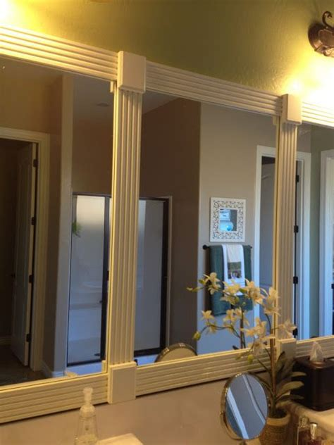 frame bathroom mirrors ideas  pinterest