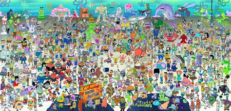pers s11 a higher resolution of the every spongebob character