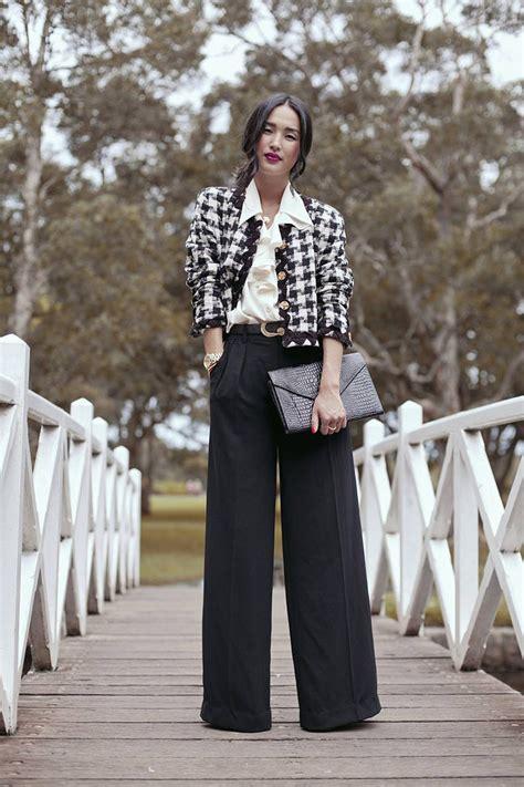 7 Ways To Wear Neutral Blazers by 7 Creative Ways To Wear Houndstooth Patterns Glam Radar