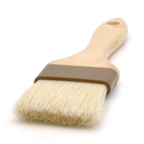 Barista Soft Brush 2 quot wide flat brush with bristles and wooden handle espresso parts