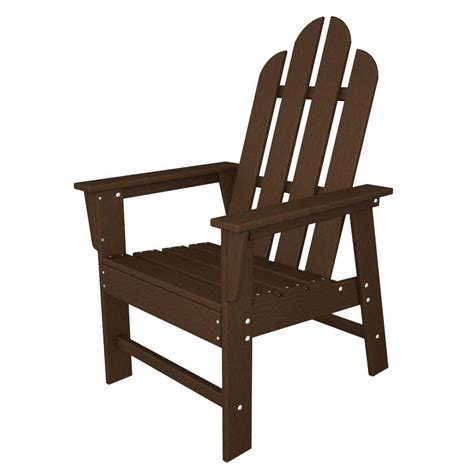 Polywood Dining Chairs Polywood Island Mahogany All Weather Plastic Outdoor