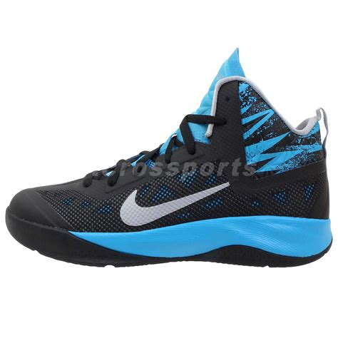 nike boy basketball shoes nike hyperfuse 2013 gs black blue 2014 boys youth womens