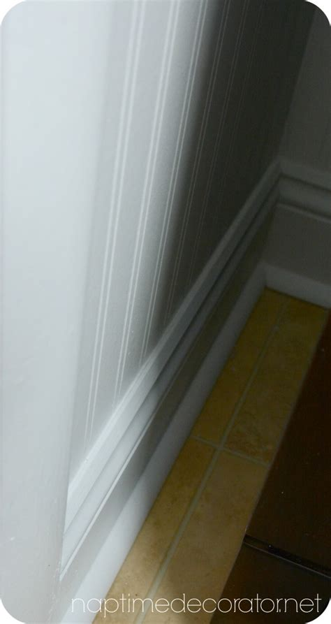 wallpaper edge molding the powder room makeover part 2 beadboard wallpaper and