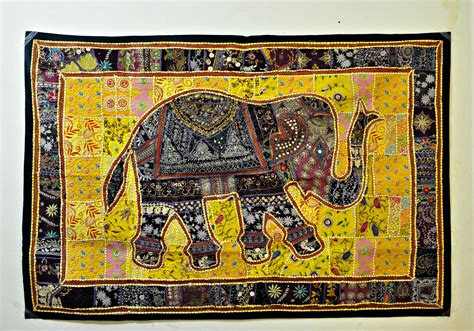Handmade Tapestry Wall Hangings - indian vintage handmade patchwork tapestry wall hanging