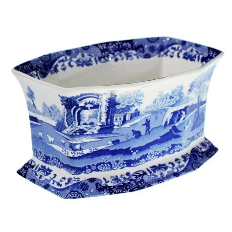 blue planter spode blue italian planter pot genuine spode blue