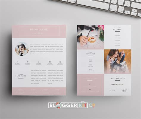 templates blogger social media beauty blogger pink media kit template diy media kit