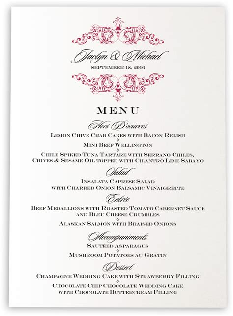 menu cards for wedding reception song vintage monogram wedding menu cards rehearsal dinner menus and dinner menu cards