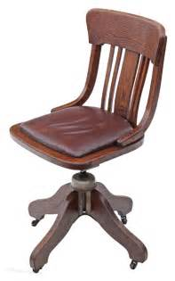 Oak And Leather Desk Office Swivel Chair Antiques Atlas Oak Swivel Chair