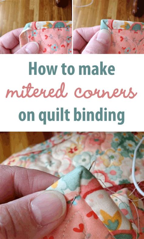 How To Bind A Quilt Corner by How To Make Mitered Corners On Quilt Binding How To