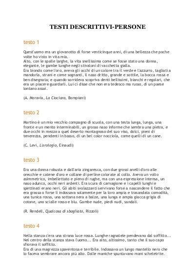 testi descrittivi testi descrittivi persone maestra sabry