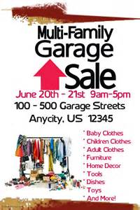 muirli family garage sale postermywall
