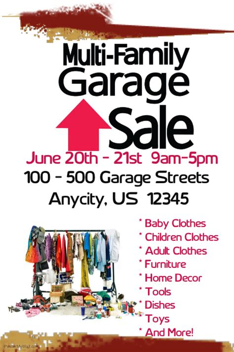 free garage sale flyers printable garage sale flyers muirli family garage sale postermywall
