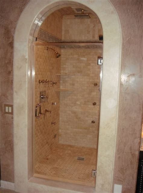 bathroom mirrors radiance double arch frameless with or arched frameless glass door