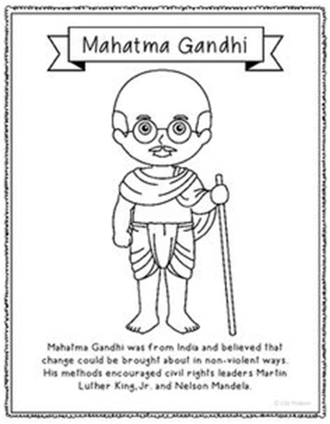 gandhi biography for middle school julius caesar coloring page craft or poster with mini