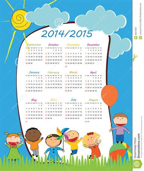 Calendario De La Escuela 2015 Calendario 2014 2015 De La Escuela Fotograf 237 A De Archivo