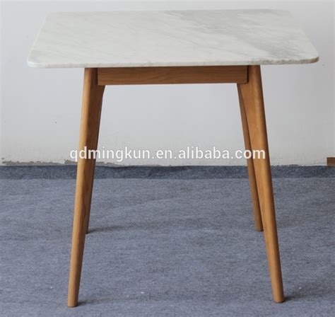 square marble top american white oak leg dining table