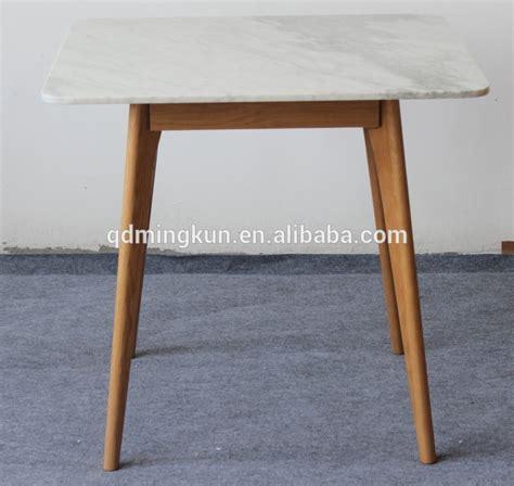 white oak dining table square marble top white oak leg dining table