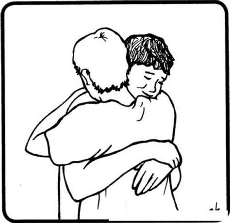 Imagenes De Abrazos Tiernos Para Colorear | colorear abrazo colorear dibujos de cholo colorear