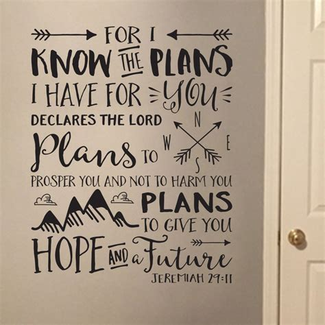 for i know the plans i have for you tattoo jeremiah 29v11 vinyl wall decal 2 for i the plans i