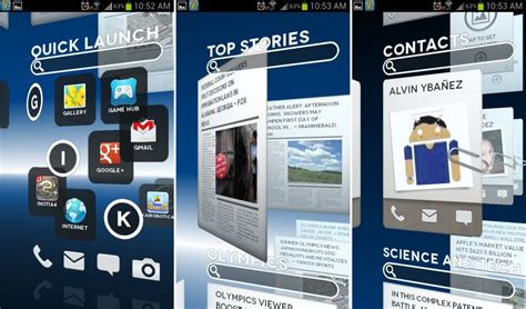 best android launchers best 3d homescreen launchers for android
