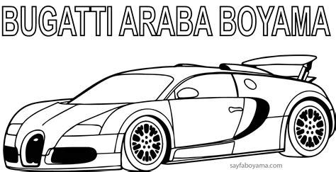 bugatti veyron araba boyama sayfasi