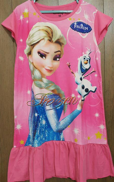 Elsa Shirt Grosir Baju Murah Berkualitas daster frozen elsa olaf pink 4 14 grosir eceran baju anak murah berkualitas