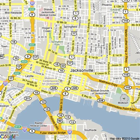 jacksonville florida map map of jacksonville florida united states hotels accommodation