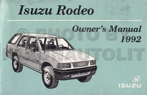 Service Manual Motor Repair Manual 2003 Isuzu Rodeo User