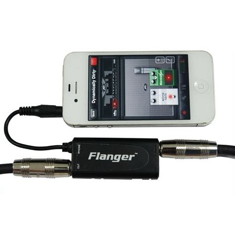 flanger guitar interface adapter for iphone ipod touch