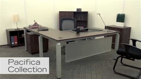 modern desk l modern l shaped desk pacifica by nbf