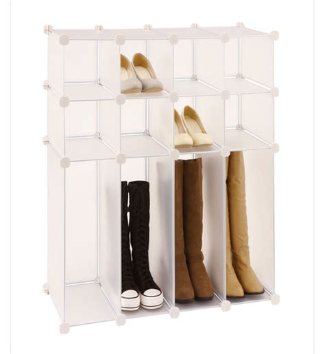 shoe and boot storage rack in shoe cubbies