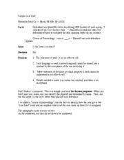 Case Brief Template Cyberuse School Brief Template