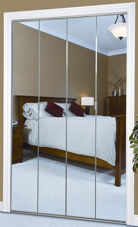 Mirror Bifold Closet Door Folding Closet Doors Mirror