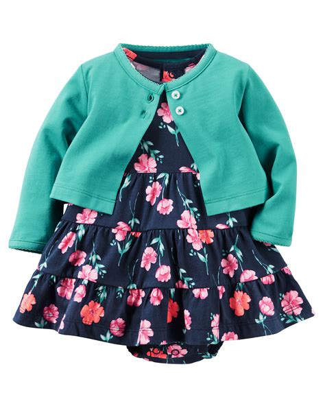 Set Dress 2 bodysuit dress cardigan set carters