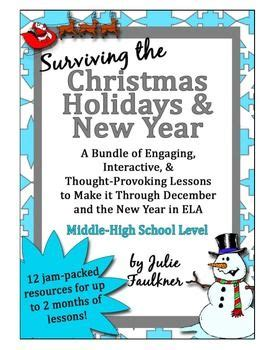 new year lesson plan middle school new years survival kit lesson plans