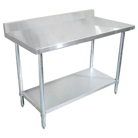 stainless steel work table with backsplash stainless steel work table with 4 quot backsplash 30 quot x 60 quot