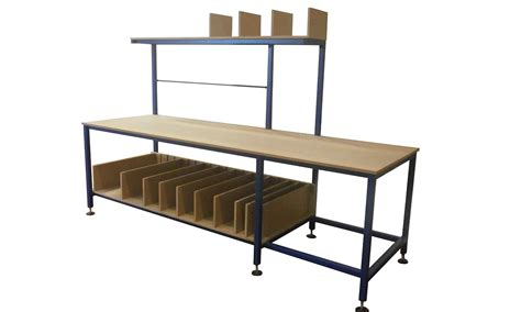 bench and tables gallery packing tables by spaceguard