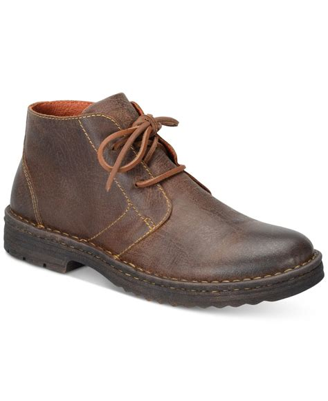 mens born boots born s limon plain toe boots in brown for lyst