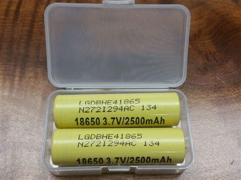 Lg He4 18650 By Khobra Vapor lg 18650 he4 2500mah 20a battery protovapor