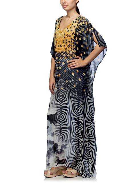 Ss Dress Tri satya suman printed tri color kaftan shop kaftans at
