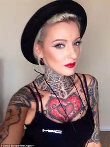 disgusting tattoos bouncer refused to let make up artist in bar because she