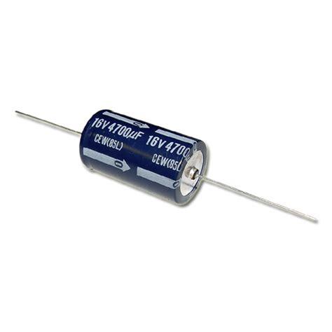 elna capacitors cew16v4700mfd elna capacitor 4 700uf 16v aluminum electrolytic axial 2020001061